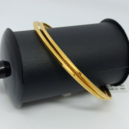 V Shape Plain Gold Bangles