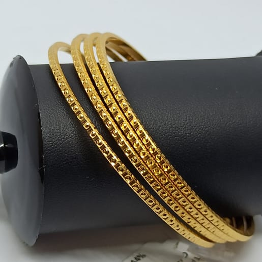 Plain Gold Square Shape Bangles