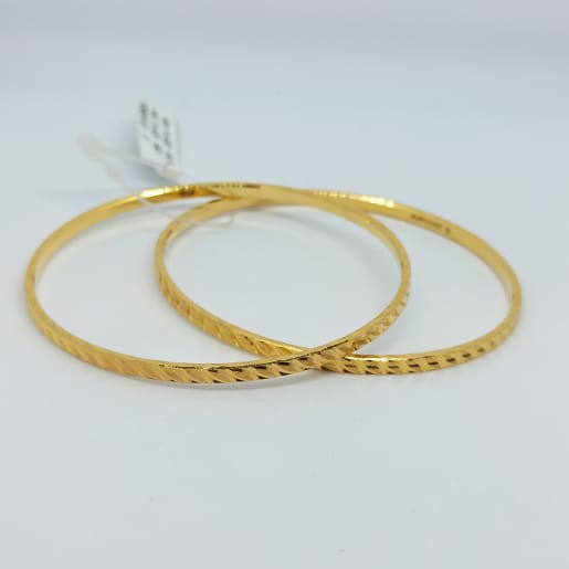 Leaf Shape Gold Bangles