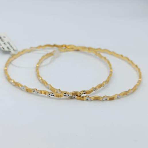 Waves White Gold Bangles