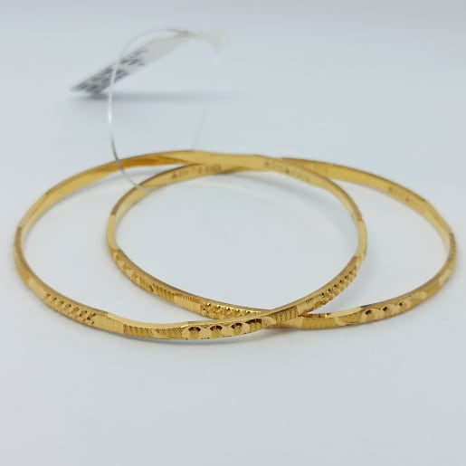 Plain Gold Cutting Bangles