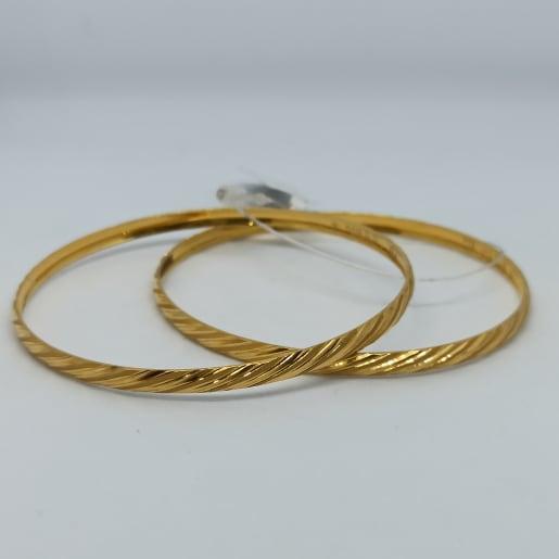 Spiral Design Gold Bangles