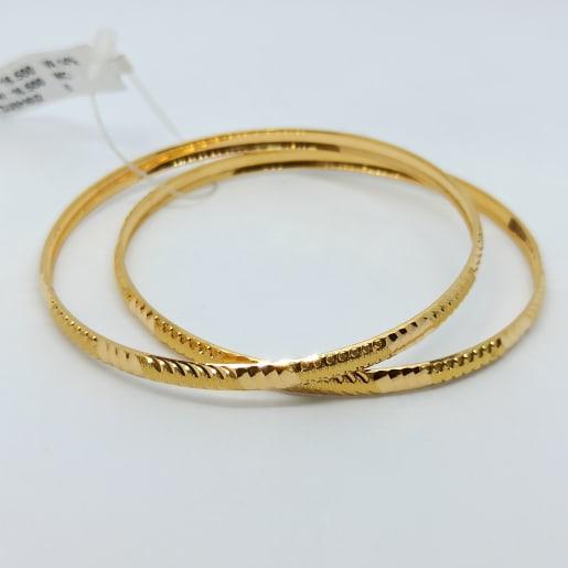 Kavya Plain Gold Bangles