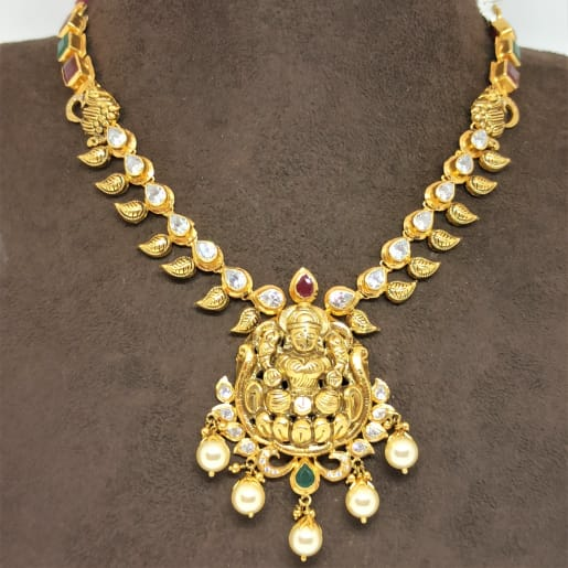 Sri Lakshmi Cz Necklace