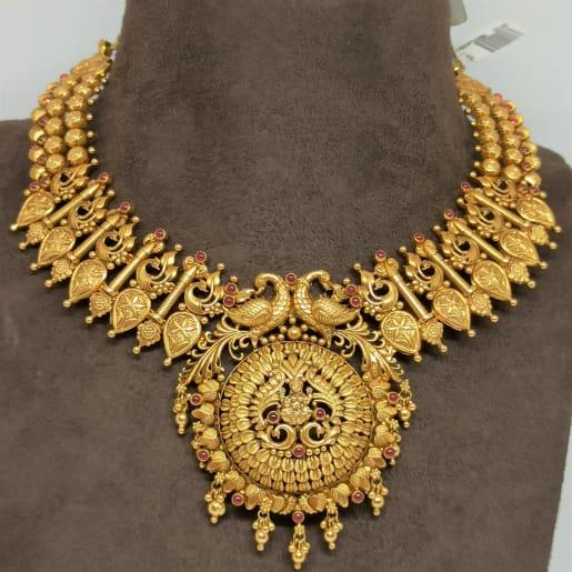 Lakshmi Leaf Chakra Necklace