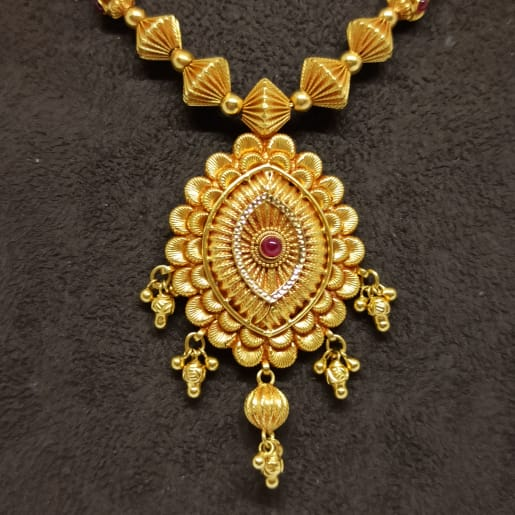 Jhanvi Bead Traditional Necklace