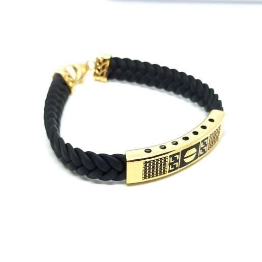 Black Thread Gold Kada