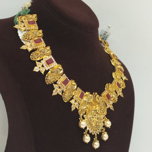 Moti And Lakshmi Necklace