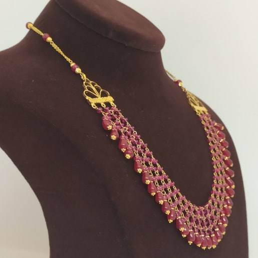 3line Pink Necklace