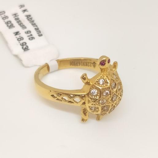 Tortoise Cz Ring