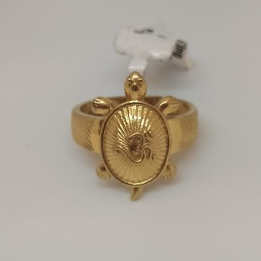 Om Tortoise Ring