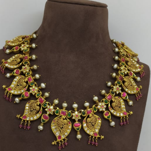 Mango Peacock Antique Necklace