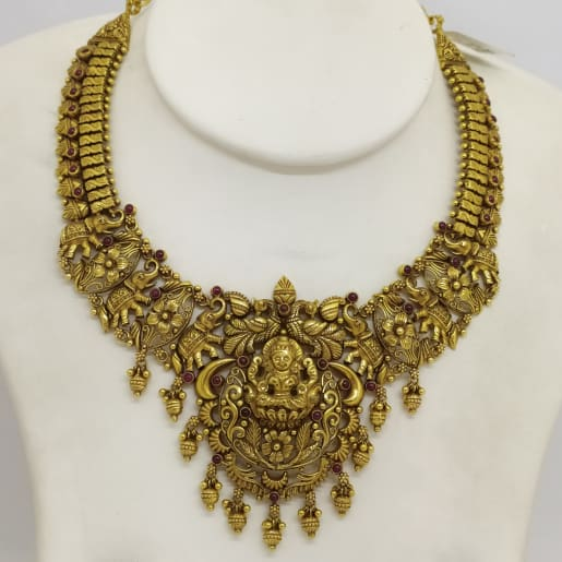 Lakshmi Antique Floral Necklace
