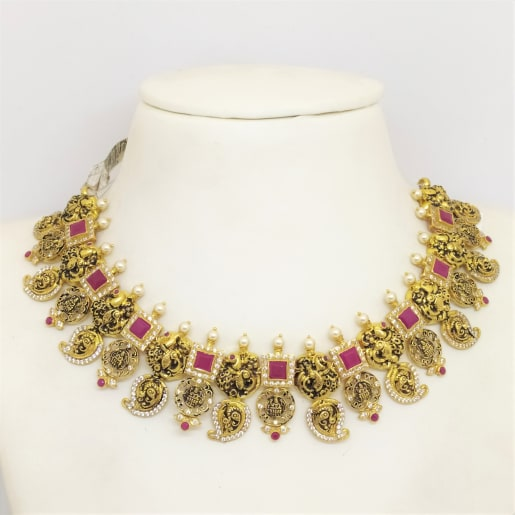 Peacock Ruby Necklace