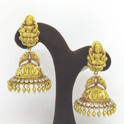 Lakshmi And Peacock Jhumka