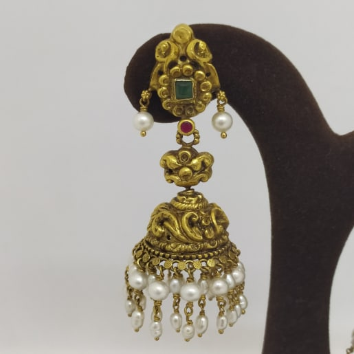 Moti Antique Jhumka