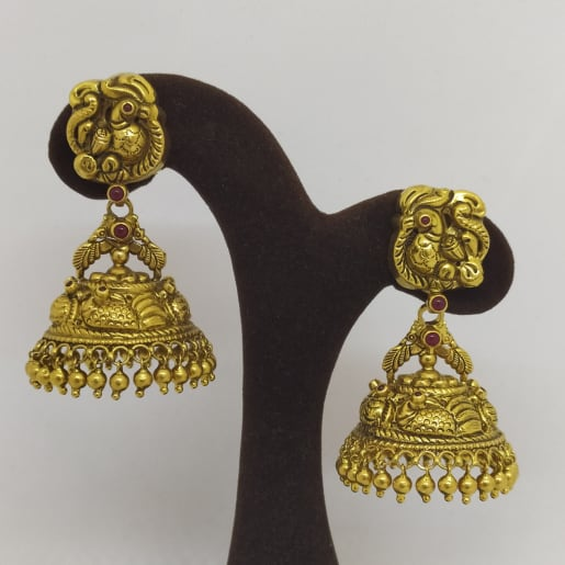 Peacock Antique Jhumka