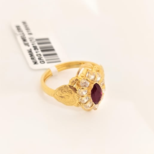 Ruby Marquise Gold Ring