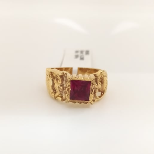Red Stone Cz Ring