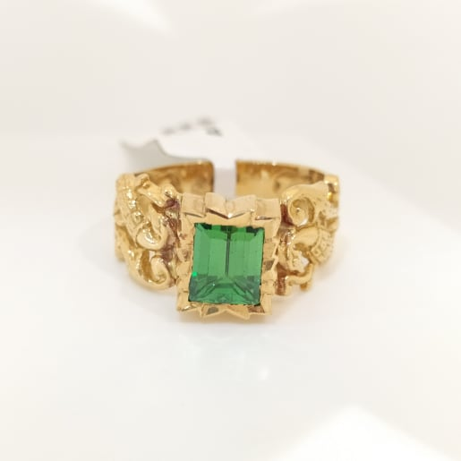 Green Emerald Antique Ring