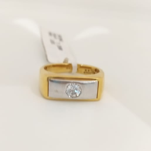 Single Cz Gents Ring