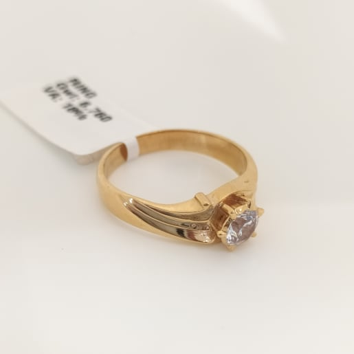 Single Stone Cz Gents Ring
