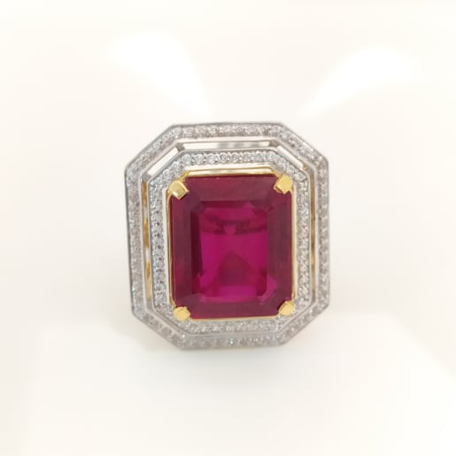 Pink Ruby Cz Cocktail Ring