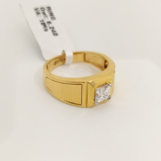 Square Cz Gents Ring