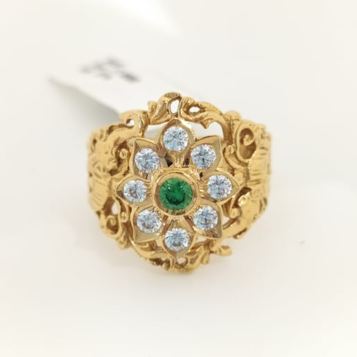 Antique Cz Cocktail Ring