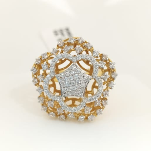 Star Cz Cocktail Ring