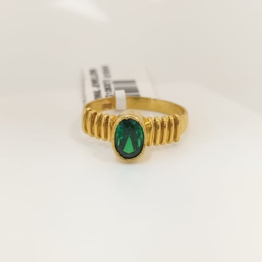 Emerald 5 Line Ring