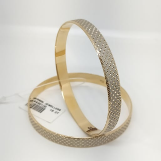 Rhodium Dotted Bangle