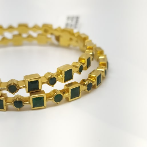 Green Square Bangle
