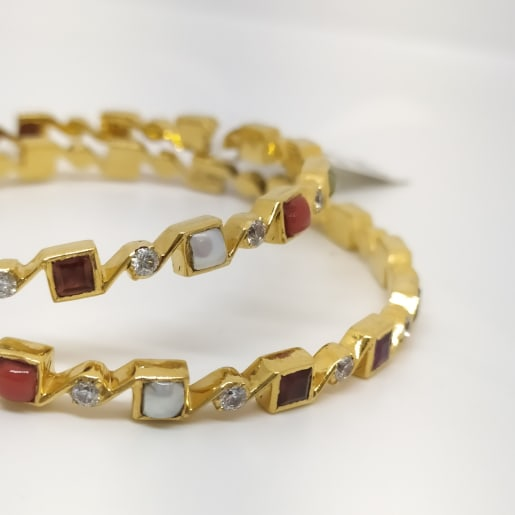 Stones And Cz Bangle