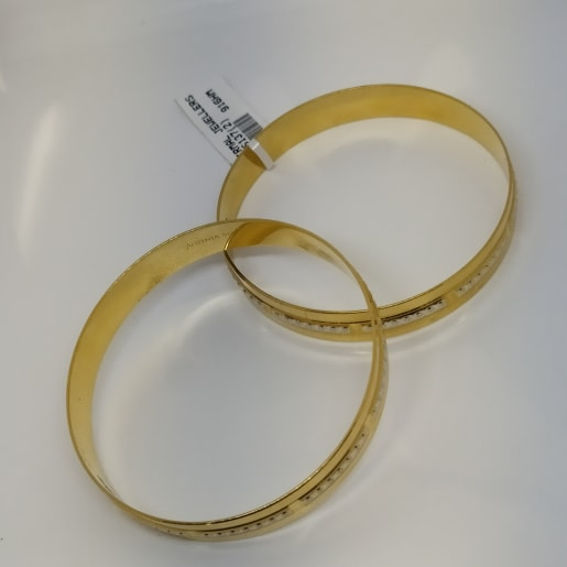 Plain With Rhodium Bangle