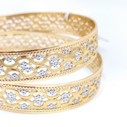 Flower Cz Bangle
