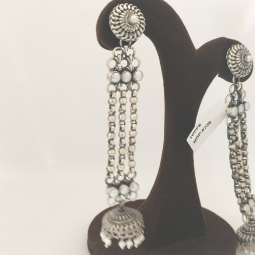 Antique 3 Line Earring