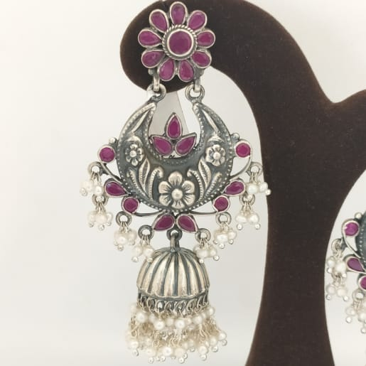 Antique Stone Earring