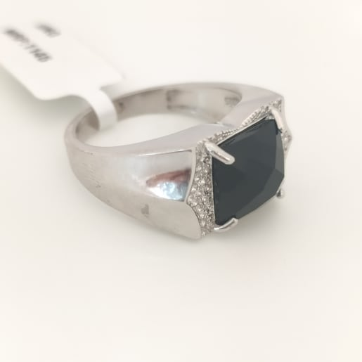 Black Stone And Cz Ring