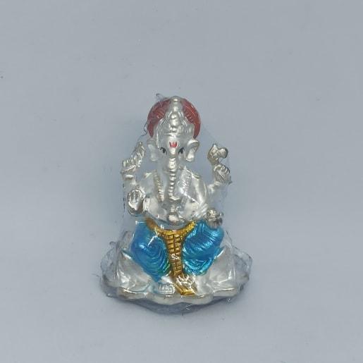 Blue Ganesha Idol