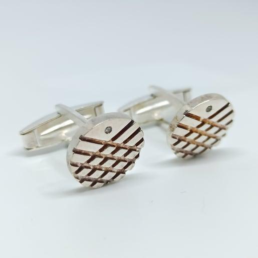 Design Silver Cufflink