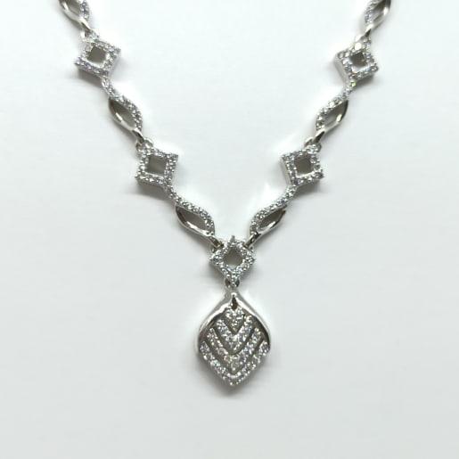 Stones Silver Necklace