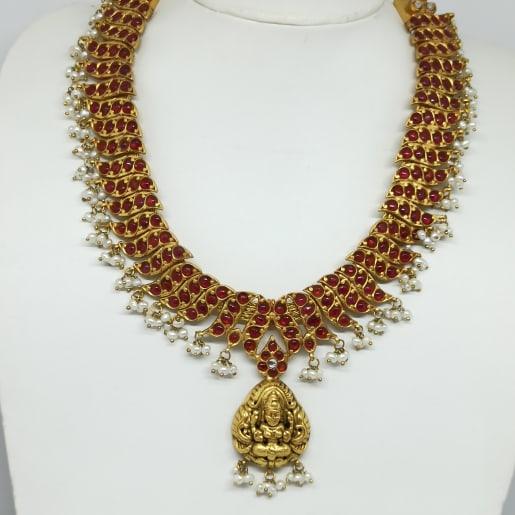 Moti Lakshmi Silver Haram