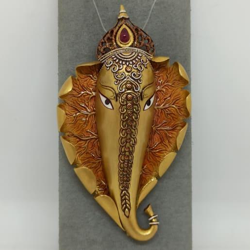 Fully Handmade Ganesha Pendant