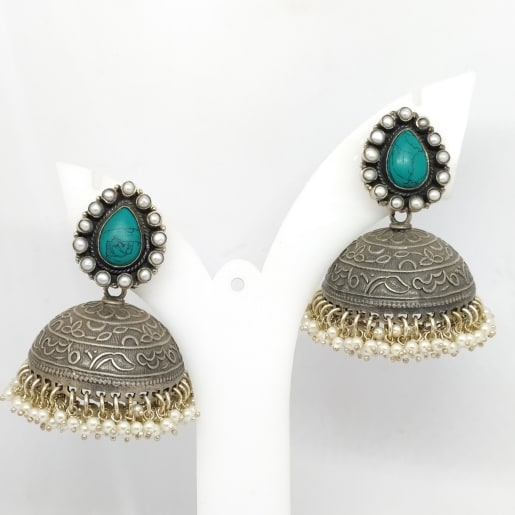 Green Antique Jhumka