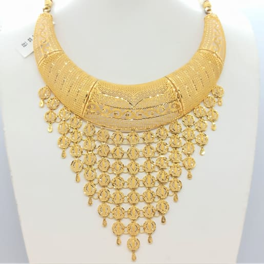Designer Waving Gold Necklace