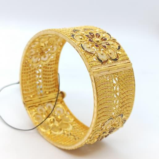 Enamel Flower Gold Kada