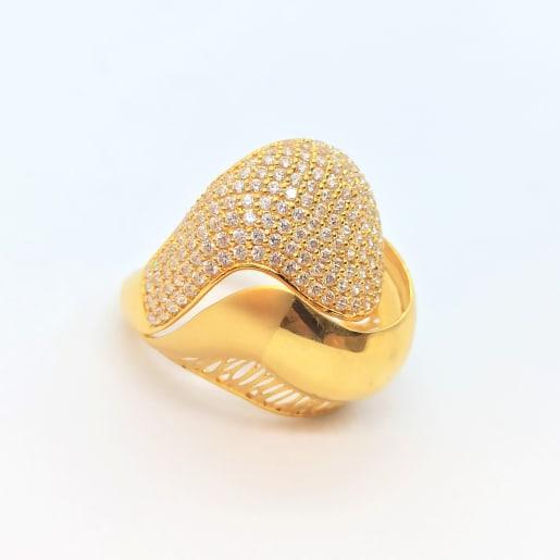 Ella Cz Gold Ring