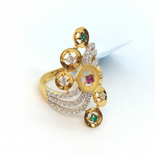 Colorstone Cz Ring