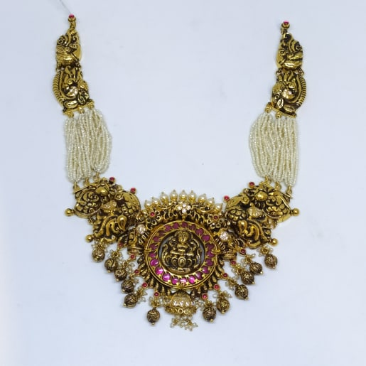 Moti Lakshmi Necklace